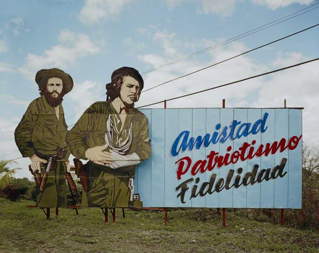 Roadside billboard in Santa Clara, 2002